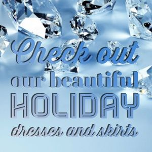 Check out our beautiful Holiday dresses & skirts